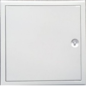 Revízne dvierka kovové biele H 600x600mm zatváranie štvorhran+plastový kľúčik