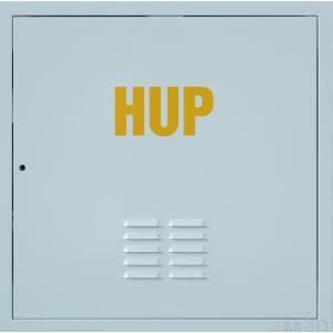 Kovové dvierka s odvetraním HUP 300x300 biele