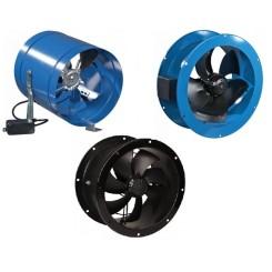 Potrubné axiálne priemyselné ventilátory