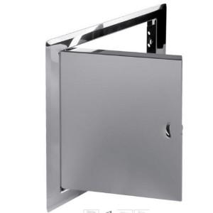 Revízne dvierka nerez lesklá 150x150 - otváranie západkou DMN 51