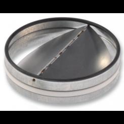 Spätné klapky kovové-zasúvatelné do potrubia