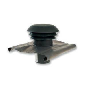 CTA - Strešný prechod plastový - 125mm - Čierna - Golier olovený