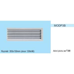 Vetracia mriežka bez sieťky MODP3 pravá strana 355x130 pre otvor 338x96mm