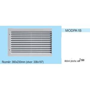 Vetracia mriežka bez sieťky MODPA1 Ľavá strana 360x230 pre otvor 338x187mm