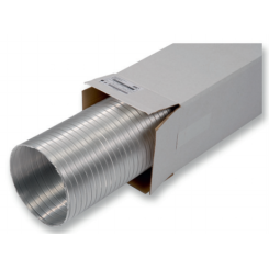 Flexibilné neizolované hliníkové potrubie balené-Semiflex-dĺžka 3metre