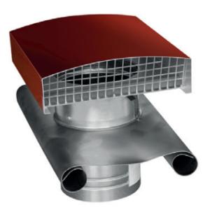 CT - Strešný prechod kovový - 125mm - Červená - Golier olovený