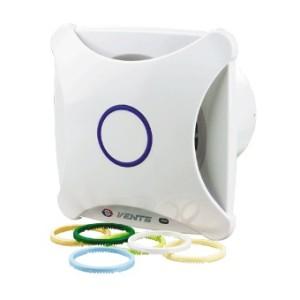 Dekoratívny domový ventilátor Vents 100XTH+časový dobeh+parový senzor