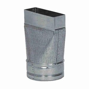 Kanál rúra prechod priamy 100 na potrubie 150x50mm