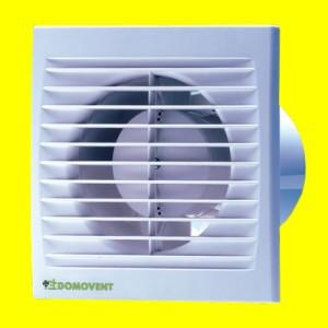 Ventilátory domové Domovent 100 s-zapínanie a výpínanie vypínačom na svetlo