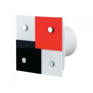 Dekoratívne ventilátory typová rada Vents 100 DOMINO 1T+časový dobeh