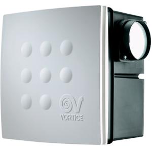 Radiálny ventilátor VORT QUADRO MICRO I 100 dvojrýchlostný výkon 75-110m3/h-priemer 100mm+spätná klapka+2 napojenia-zápustný