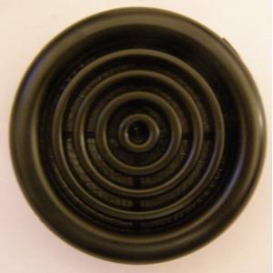 Mriežka plastová MV51/2BVS čierna-so sieťkou proti hmyzu 2kusy v balení