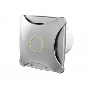 Dekoratívny domový ventilátor Vents 100XTH alu+časový dobeh+parový senzor